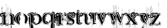 Retro Rock Poster Font LOWERCASE