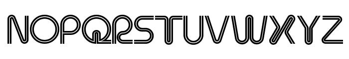 Retro Stereo Thin Font UPPERCASE