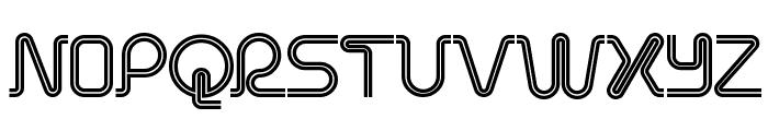 Retro Stereo Thin Font LOWERCASE