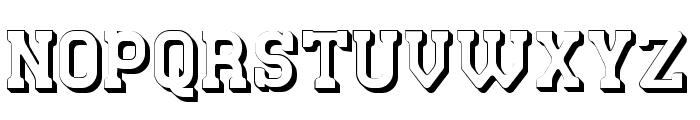 Retro Town 3D Font UPPERCASE