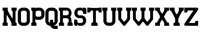 Retro Town Serif Font UPPERCASE