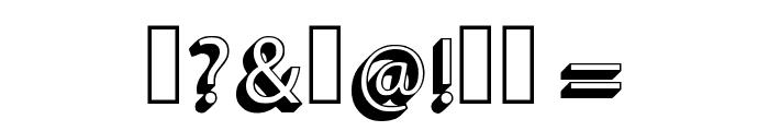Retro Vintage 3d Regular Font OTHER CHARS