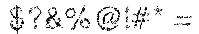 RetroBubbles Font OTHER CHARS