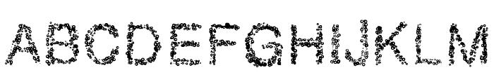RetroBubbles Font UPPERCASE