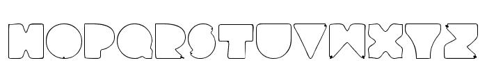 RetroLights Font UPPERCASE