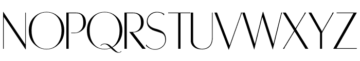 RetroSuperSkinny Font UPPERCASE