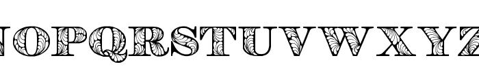 Retrograph Font UPPERCASE