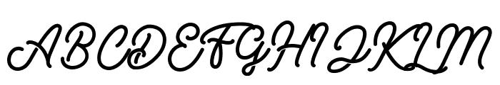 RetrologyDEMO Font UPPERCASE