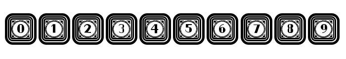 Retrospective Capitals Regular Font OTHER CHARS
