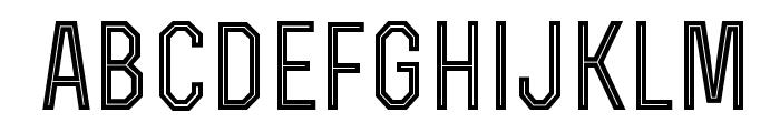 RexBoldInline Font LOWERCASE