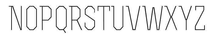 RexLight Font UPPERCASE