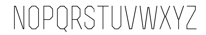 RexLight Font LOWERCASE