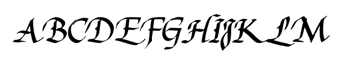 Reynolds Chancery Font UPPERCASE