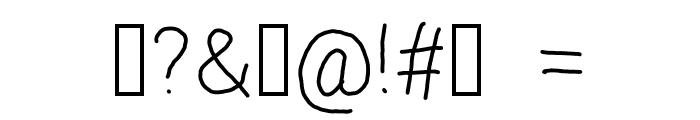 regosel Font OTHER CHARS