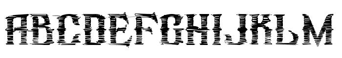 republic_stroke Font LOWERCASE