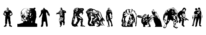 resident evil characters Font UPPERCASE