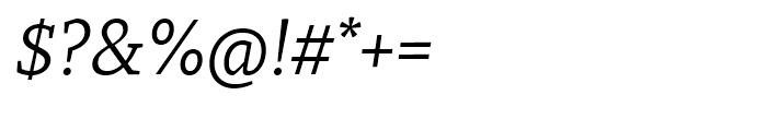 Recia Italic Font OTHER CHARS