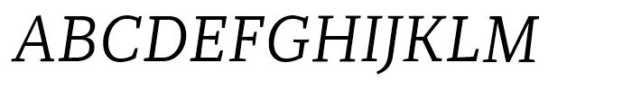 Recia Italic Font UPPERCASE