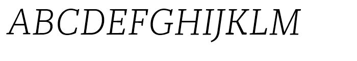 Recia Light Italic Font UPPERCASE
