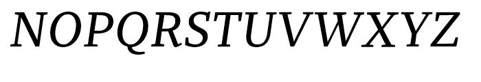Recia Medium Italic Font UPPERCASE