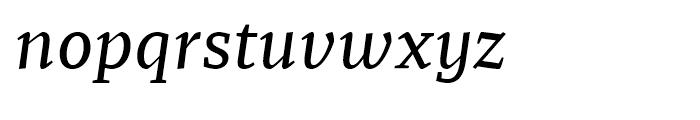Recia Medium Italic Font LOWERCASE