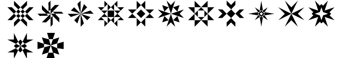 Rectilinear Ornaments Font LOWERCASE