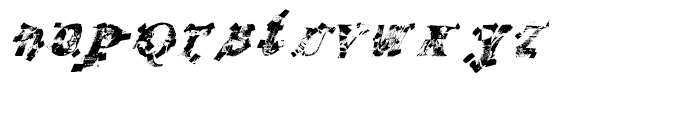 Recycled Italic Font LOWERCASE