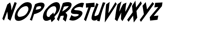 Red Star Intl Star Bold Italic Font LOWERCASE