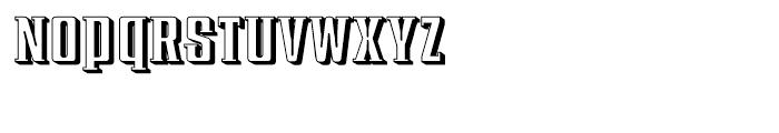 Redeye Serif Shadow Font LOWERCASE