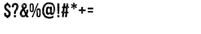 Redgar Regular Font OTHER CHARS