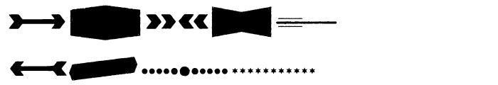 Redgar Shapes Font OTHER CHARS