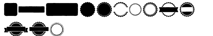 Redgar Shapes Font LOWERCASE