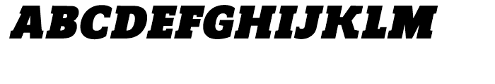 Regan Slab Ultra Italic Font UPPERCASE