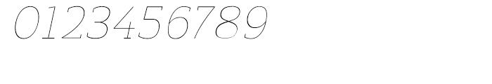 Regan Slab Ultra Light Italic Font OTHER CHARS