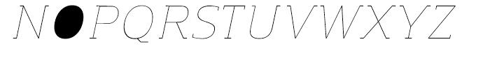 Regan Slab Ultra Light Italic Font UPPERCASE