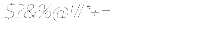 Regan UltraLight Italic Font OTHER CHARS