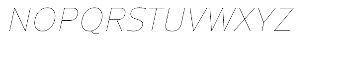 Regan UltraLight Italic Font UPPERCASE