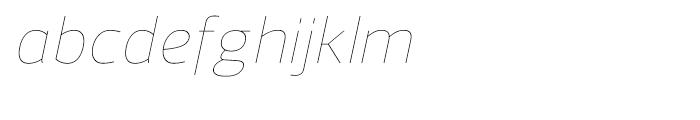 Regan UltraLight Italic Font LOWERCASE
