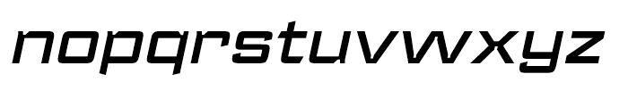 Register Wide Demi Bold Italic Font LOWERCASE