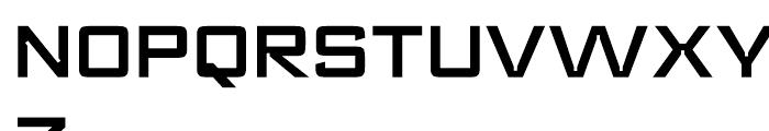 Register Wide Demi Bold Font UPPERCASE