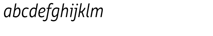 Rehn Condensed Light Italic Font LOWERCASE