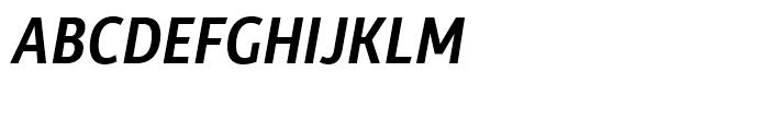 Rehn Condensed Medium Italic Font UPPERCASE
