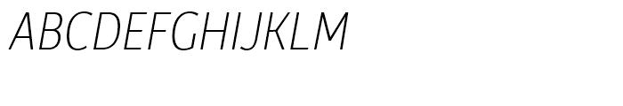 Rehn Condensed Thin Italic Font UPPERCASE