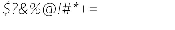 Rehn Thin Italic Font OTHER CHARS