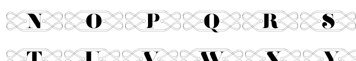 Reina Capitals Font UPPERCASE