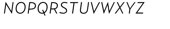 Relay Light Italic Font UPPERCASE