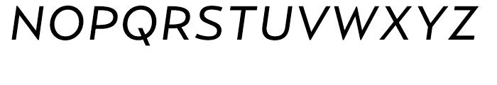 Relay Regular Wide Italic Font UPPERCASE