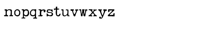 Remington Weather Regular Font LOWERCASE