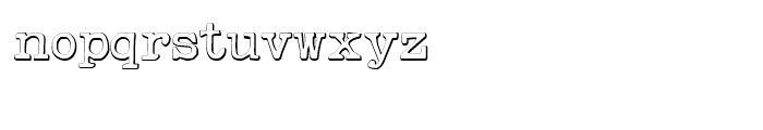 Remix Typewriter Beveled Font LOWERCASE