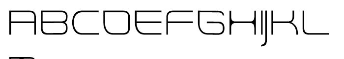 Rendt Physic Light Font UPPERCASE
